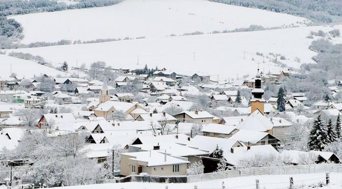 Obec Víťaz v zime