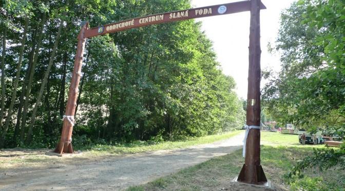 Vstupná brána do Oddychového centra Slaná voda