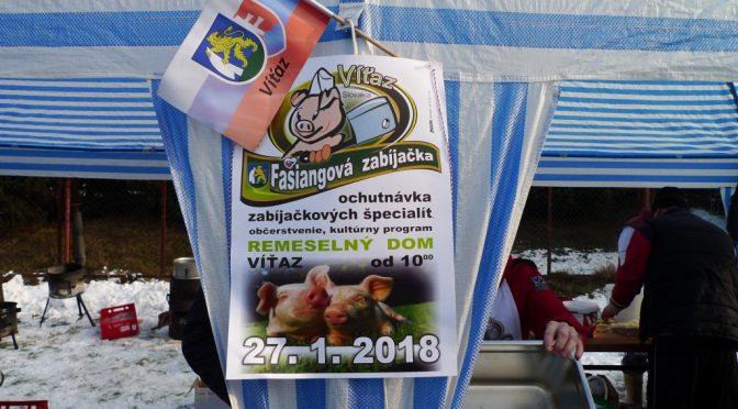 Fašiangová zabíjačka v obci Víťaz 2018